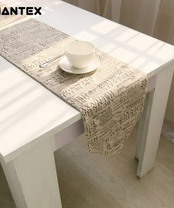 GIANTEX European Style Letters Design Cotton Linen Table Runner Home Decor U1111