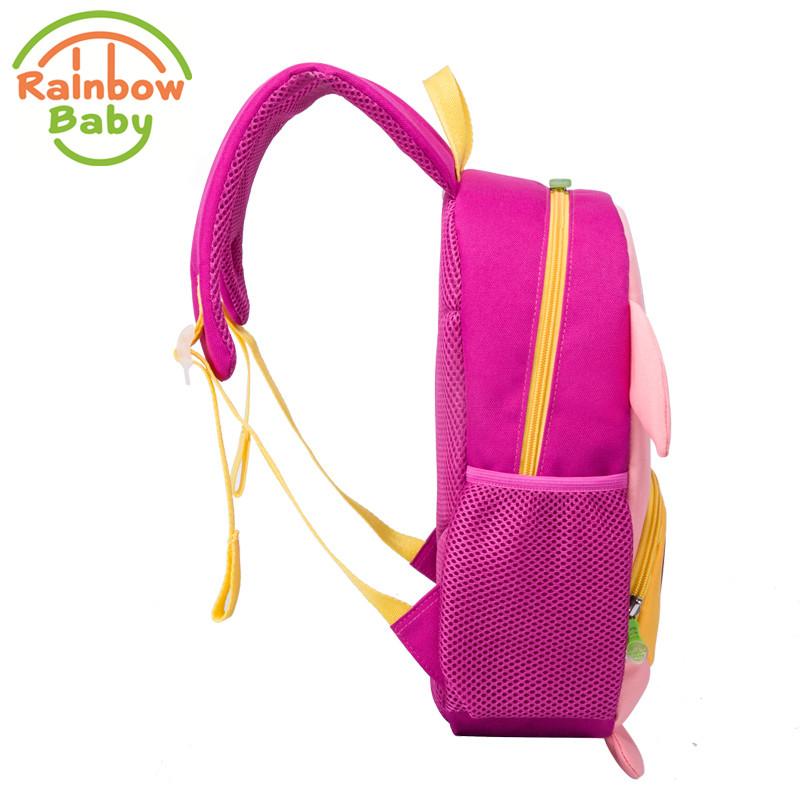 Rainbow Baby Lovely Pig Child's School Bag Ultra-Light Waterproof Boys Girls Backpack Wearable Anti-lost Rope Kids Babys Bags 1
