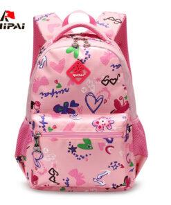 RUIPAI Nylon Printing Children Backpacks Orthopedic School Bags for Teenagers Girls Boys Kids Primary Schoolbag Backpack