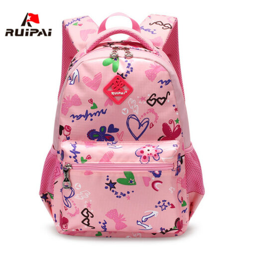 RUIPAI Nylon Printing Children Backpacks Orthopedic School Bags for Teenagers Girls Boys Kids Primary Schoolbag Backpack