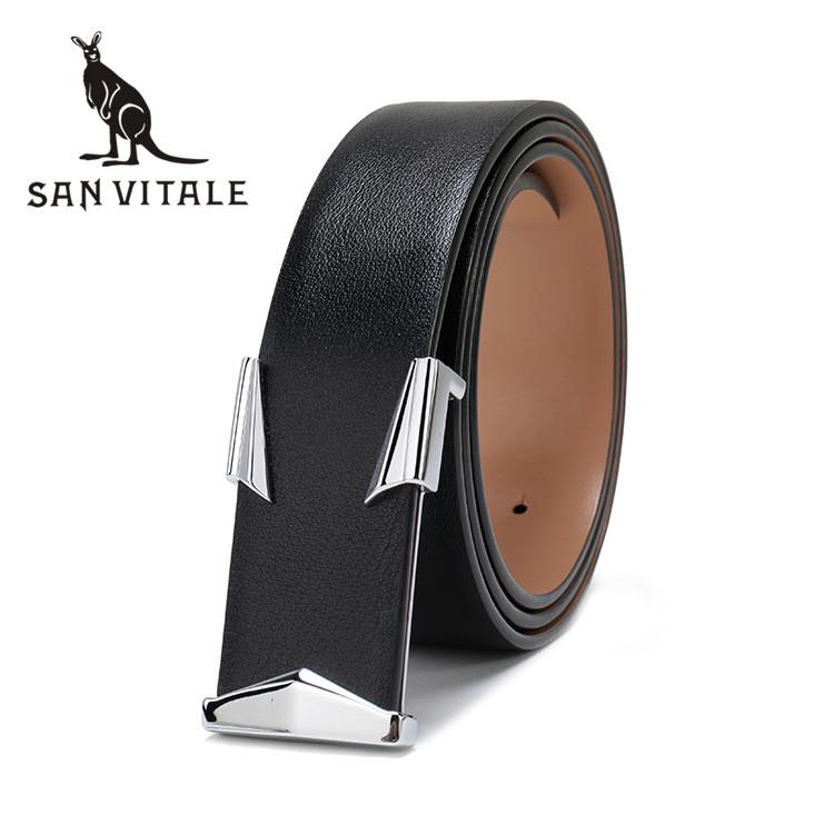 Belts Mens Belt Cowskin Strap Cowboy Genuine Leather Cowskin Man Black Stretch Buckles For Dress Luxury Brand Ratchet Reversible