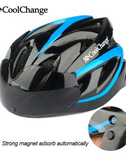 CoolChange Bicycle Helmet EPS Insect Net Road MTB Bike Windproof Lenses Integrally-molded Helmet Cycling Casco Ciclismo 1