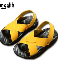 Smgslib Summer Gladiator Sandals children Leather Flat Fashion boys girls Shoes Breathable Flats shoes kids summer sandals