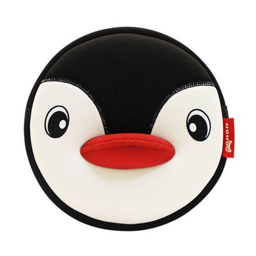 NOHOO High Quality Waterproof Animals Shoulder Bag 3D Penguin Printed Handbag Small Circular Cartoon Kids Baby Bags 3