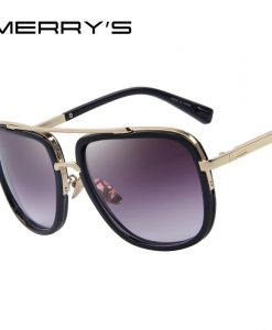 MERRY'S Fashion Men Sunglasses Classic Women Brand Designer Metal Square Sun glasses UV400