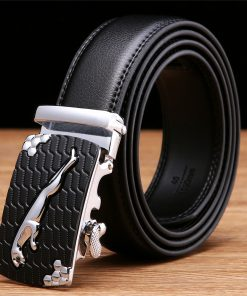 SAN VITALE Men Belts Genuine Leather Luxury Designer Strap Male Belt for Man Automatic Buckle Jeans Cintos Masculinos Ceinture 1