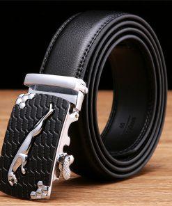 SAN VITALE Men Belts Genuine Leather Luxury Designer Strap Male Belt for Man Automatic Buckle Jeans Cintos Masculinos Ceinture 1