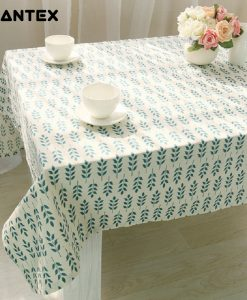 GIANTEX Korean Flower Pattern Decorative Table Cloth Cotton Linen Tablecloth Dining Table Cover For Kitchen Home Decor U1010