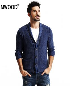 SIMWOOD 2018 new Spring winter cardigan men fashion casual sweater  knitwear slim fit  high quality MY2043