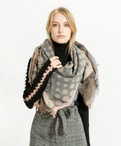 Scarves Women'S Scarf Silk Hijab Palestine Winter Warm Chiffon Luxury Brand Cashmere Plaid Pashmina For Dress Luxury Brand Silk 1