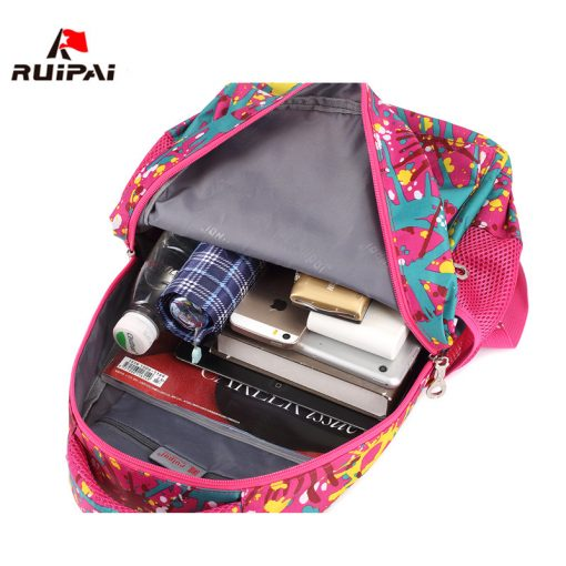 RUIPAI Nylon Printing Children Backpacks Orthopedic School Bags for Teenagers Girls Boys Kids Primary Schoolbag Backpack 4