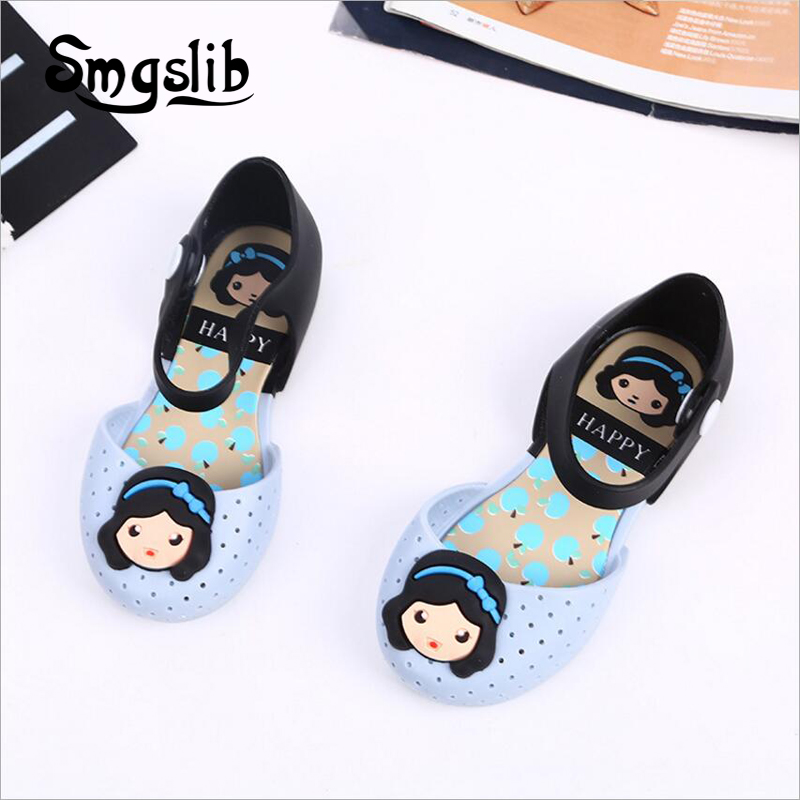 kids shoes girls boys Sandals Children's Cartoon snow white Princess dress party Shoes Waterproof Non-slip Breathable Slippers  1