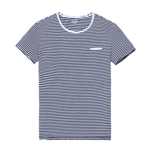 SIMWOOD 2018 Spring  Summer Short Sleeve T Shirts Men Striped  Fashion Tees Slim Fit Plus Size Breton Top TD1167 5
