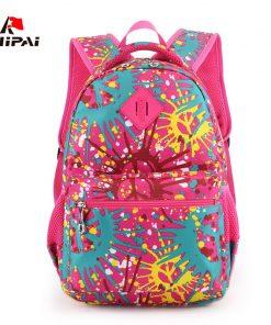 RUIPAI Nylon Printing Children Backpacks Orthopedic School Bags for Teenagers Girls Boys Kids Primary Schoolbag Backpack 1