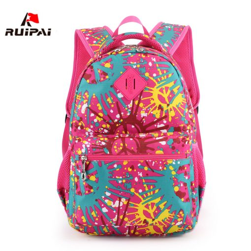RUIPAI Nylon Printing Children Backpacks Orthopedic School Bags for Teenagers Girls Boys Kids Primary Schoolbag Backpack 1