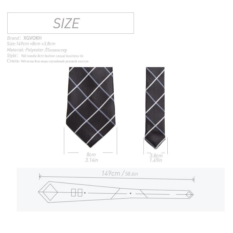 20 style Formal ties business vestidos wedding Classic Men's tie stripe grid 8cm corbatas dress Fashion Accessories men necktie  1