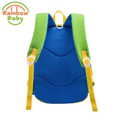Rainbow Baby Small Bee Kids Babys Bags Backpack Anti-lost Rope Ultra-Light Waterproof Wearable Breathable Boys Girls School Bags 3
