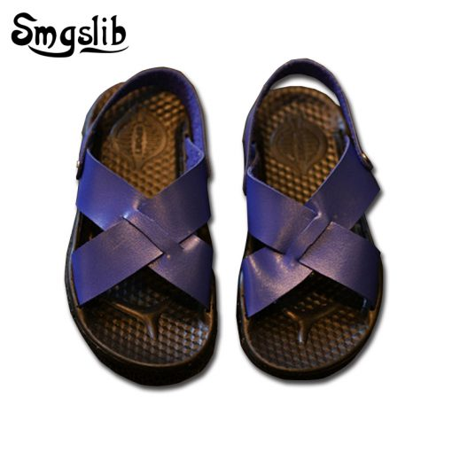 Smgslib Summer Gladiator Sandals children Leather Flat Fashion boys girls Shoes Breathable Flats shoes kids summer sandals 2