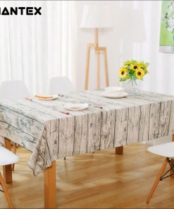 GIANTEX Wood Grain Pattern Decorative Table Cloth Cotton Linen Tablecloth Dining Table Cover For Kitchen Home Decor U1098 1