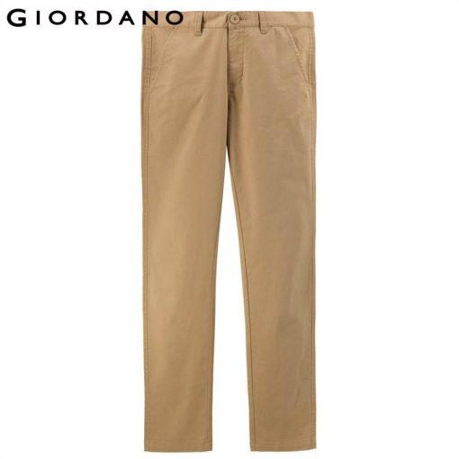 Giordano Men Pants Men Khaki Pantalon Homme Slim Pants Men Quality Trousers Men Cotton Business Casual Modern Pantalones Hombre 5
