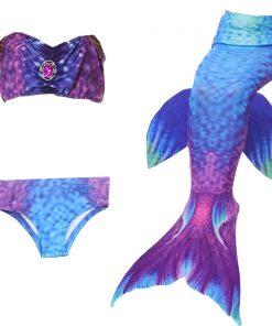 2018 children Bikini Set cosplay Mermaid Swimsuit Baby Girls Swimwear Colorful Bikinis Kid swimming Mermaid Tails               1