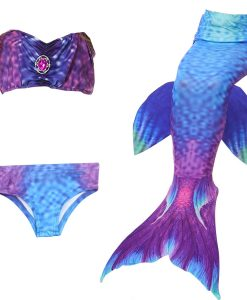 2018 children Bikini Set cosplay Mermaid Swimsuit Baby Girls Swimwear Colorful Bikinis Kid swimming Mermaid Tails               1