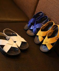 Smgslib Summer Gladiator Sandals children Leather Flat Fashion boys girls Shoes Breathable Flats shoes kids summer sandals 1