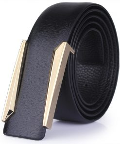 2017 new Designer solid brass buckle belt for men belts luxury top quality full grain 100% genuine leather fashion casual hot 1