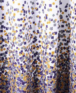GIANTEX Sporadic Block Pattern Polyester Bathroom Waterproof Shower Curtains With Plastic Hooks U1027 1