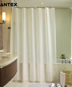 GIANTEX White Ball Pattern PEVA Bathroom Waterproof Shower Curtains With Plastic Hooks U1096