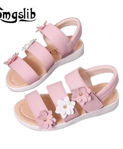 Girls shoes sandals kids leather shoes children floral calceus big flower baby Girls Flat pricness beach Shoes kids Casual shoes 1
