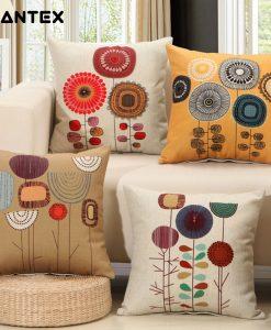 GIANTEX Plant Pattern Linen Cushion Cover Decorative Pillowcase Home Decor Sofa Throw Pillow Cover 45x45cm U1335