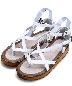 Road Track Girls Sponge Cake Flat Large Size Tide Roman Women Platform Sandals XWA1367-5 1