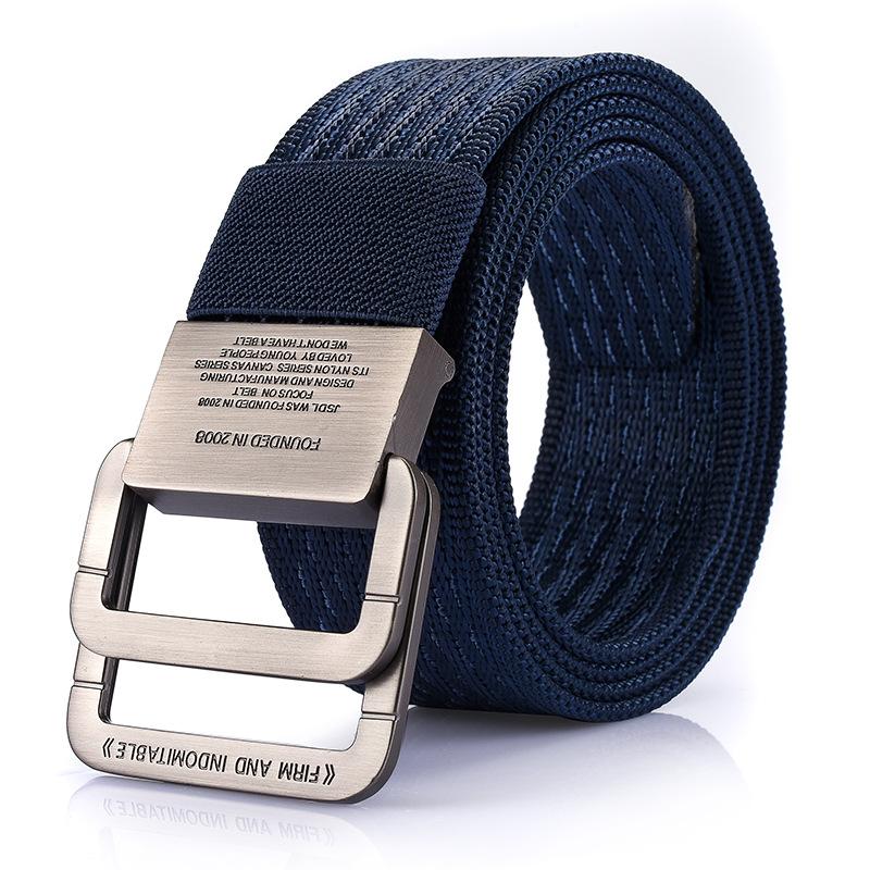 SAN VITALE Men Belt Military Equipment Outdoor Tactical Belt Man Double Ring Buckle Thicken Canvas Belts for Men Waistband Strap 1