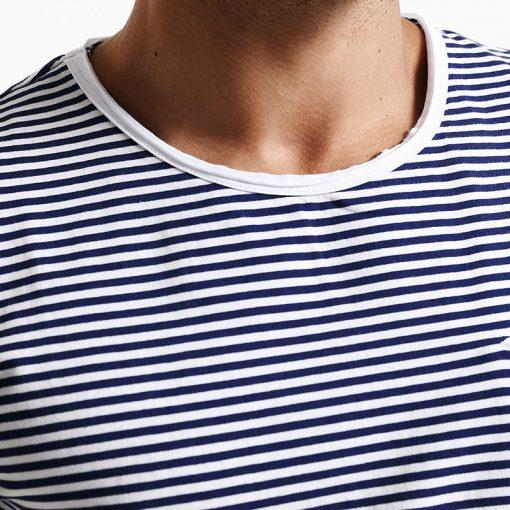 SIMWOOD 2018 Spring  Summer Short Sleeve T Shirts Men Striped  Fashion Tees Slim Fit Plus Size Breton Top TD1167 1
