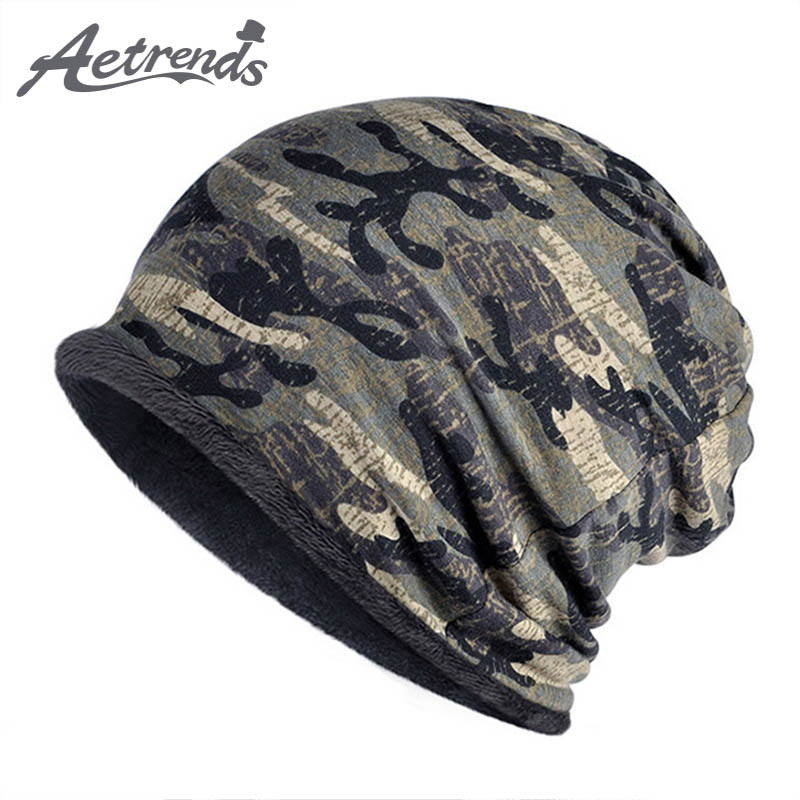 [AETRENDS] Multifunction 2 in 1 Scarf Slouchy Knitted Hip Hop Beanies Men or Women Hats Z-5083