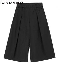 Giordano Women Pants Wide Leg Pants Woman Fashion Loose Trousers Female Mid Rise Pantalon Femme Cropped Calca Feminina 1
