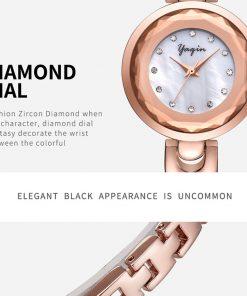 Original YAQIN bracelet Women Watch top brand watches Women 2017 elegant waterproof Montreux quartz watch Femme 1