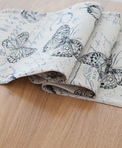 GIANTEX Pastoral Style Butterfly Design Cotton Linen Table Runner Home Decor U1126 1