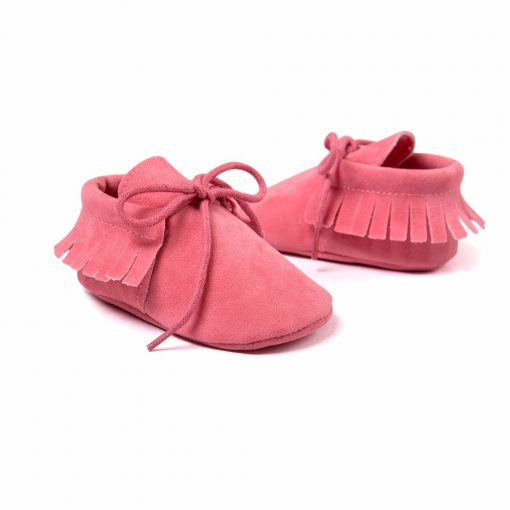 Baby Boy Girl Baby Moccasins Soft Moccs Shoes Bebe Fringe Soft Soled Non-slip Footwear Crib Shoes New PU Suede Leather Newborn 5