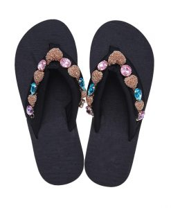 Road Track Women Summer Open Toe Sandals Large Diamond Non-slip Sandals Comfortable Casual Female Beach Shoes XWA1098-45 1