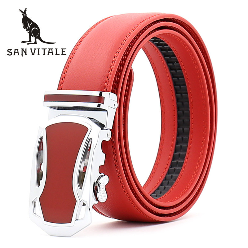 Men's Belt Belts Genuine Leather Gift Waistband Gold 35Mm Suspenders Clothing Accessories Apparel Waist Man Black Stretch Gift