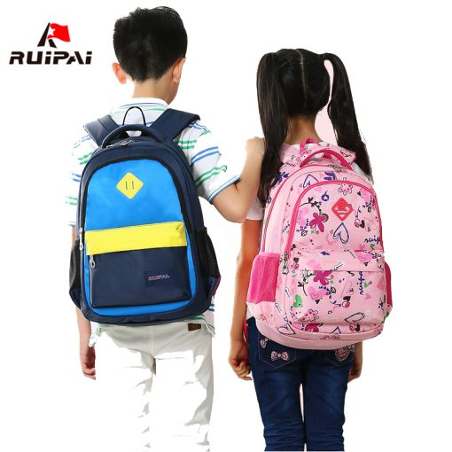 RUIPAI Nylon Printing Children Backpacks Orthopedic School Bags for Teenagers Girls Boys Kids Primary Schoolbag Backpack 5