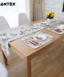GIANTEX Pastoral Style Butterfly Design Cotton Linen Table Runner Home Decor U1126
