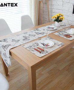 GIANTEX Pastoral Style Butterfly Design Cotton Linen Table Runner Home Decor U1126