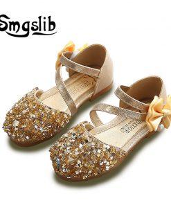 girls sandals Children Princess Glitter Sandals Kids Girls Dress Party Bowknot Shoes safty quality non-slip sandals for kids