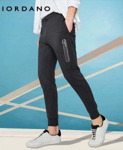 Giordano Men Interlock Jogger Pants Zip Pocket Sweatpants Men Elastic Waistband Casual Pants Pantalon Hombre