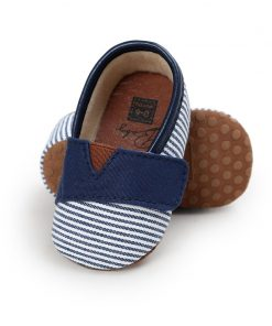 WONBO 2018 Autumn New Design Baby Shoes Gingham Cotton Hook & Loop First Walkers 1