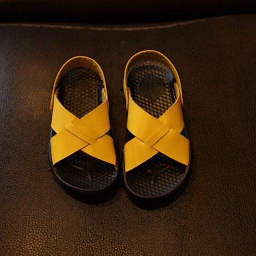 Smgslib Summer Gladiator Sandals children Leather Flat Fashion boys girls Shoes Breathable Flats shoes kids summer sandals 3
