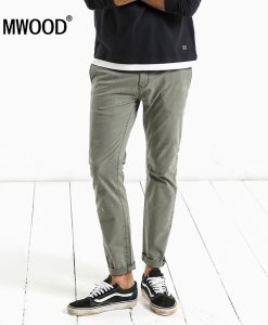 SIMWOOD 2018 Spring New Casual Pants Men Slim Fit Vintage High Quality Trousers Male Plus Size Brand Clothing 180059